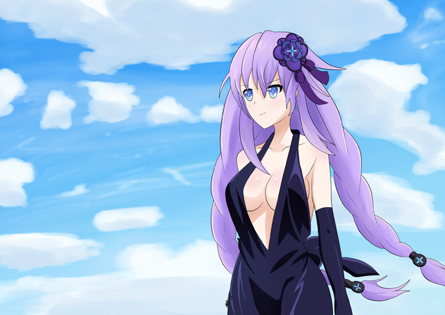 Hyperdimension neptunia purple heart dress