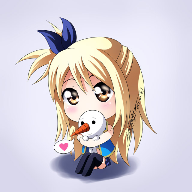 chibi lucy heartfilia fairy tail cute hug