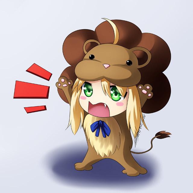 chibi saber lion